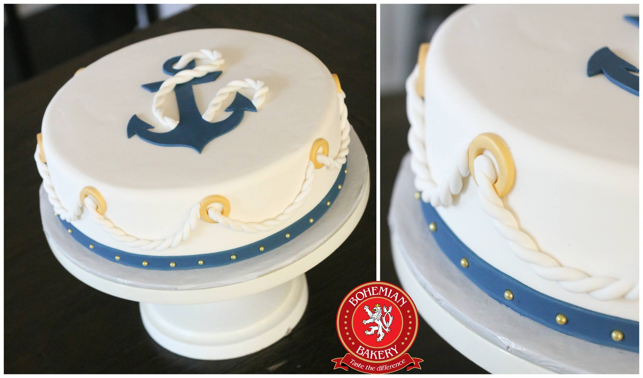 Cool Nautical Birthday Cake Bohemian Bakery Personalised Birthday Cards Veneteletsinfo