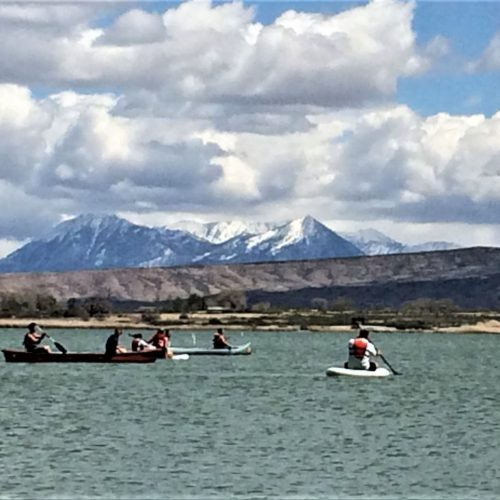 The wind couldn't keep these students off the water. (Photo credit: Reaha Goyetche)