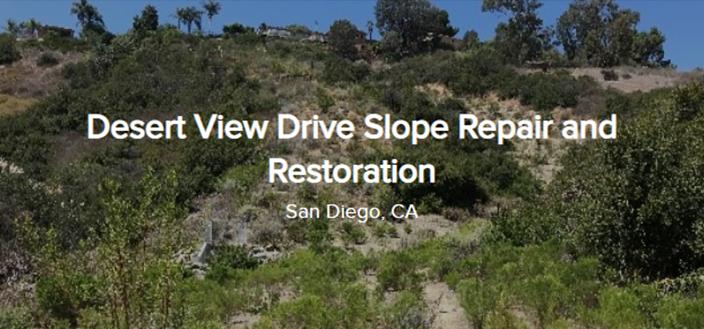 Desert View Drive Slope Repair And Restoration