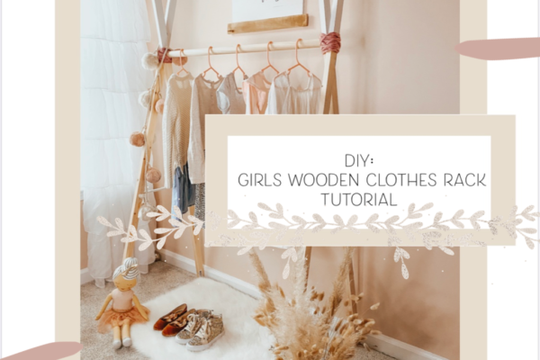 tutorial for girls wooden clothes rack