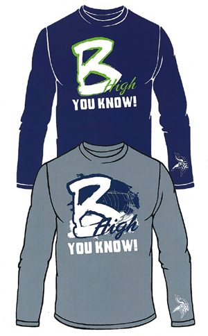 The PTSO is selling long-sleeved Go Big Blue T-Shirts for Project Graduation 2012.