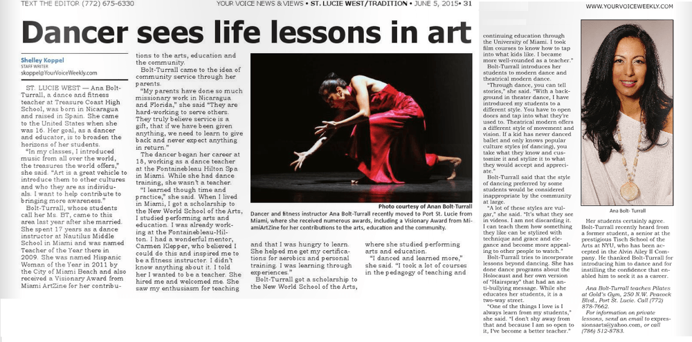 dancer article
