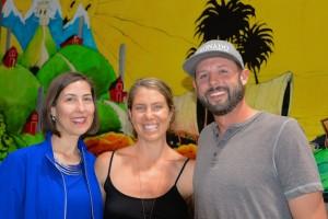 Heather Dane, Rachel Peter and Nick Brune
