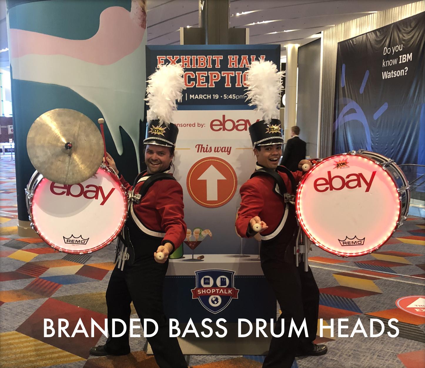 Branded Bass Drum Heads