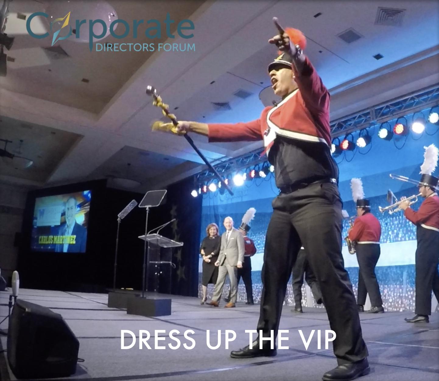 Dress up the VIP