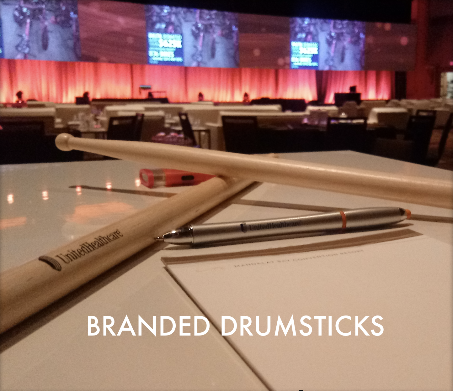 LED TCP Branded Drumsticks