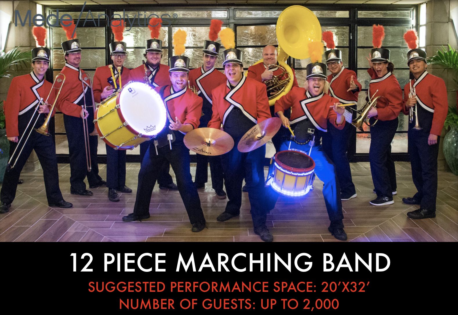 12 piece Marching Band