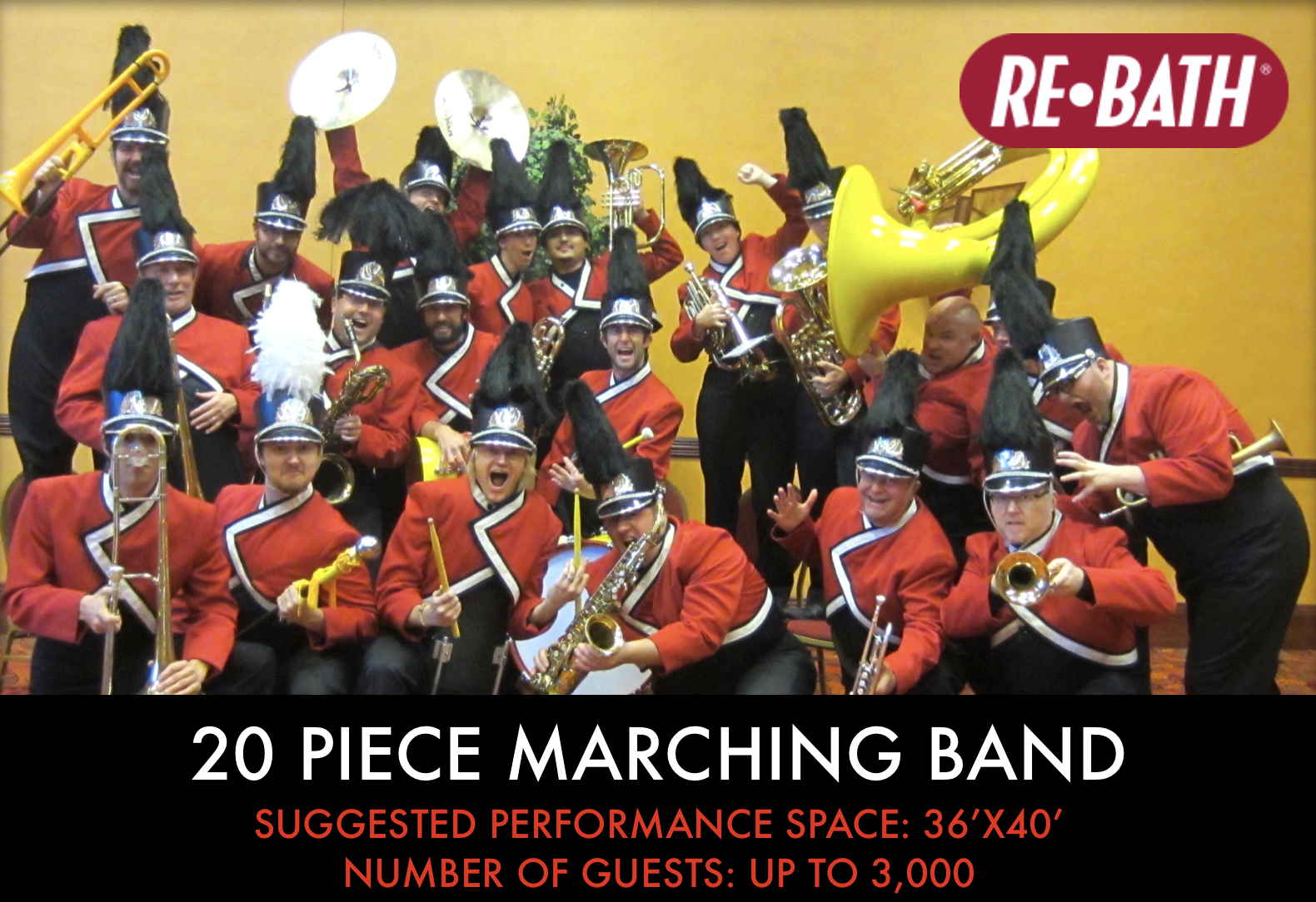 20 piece Marching Band