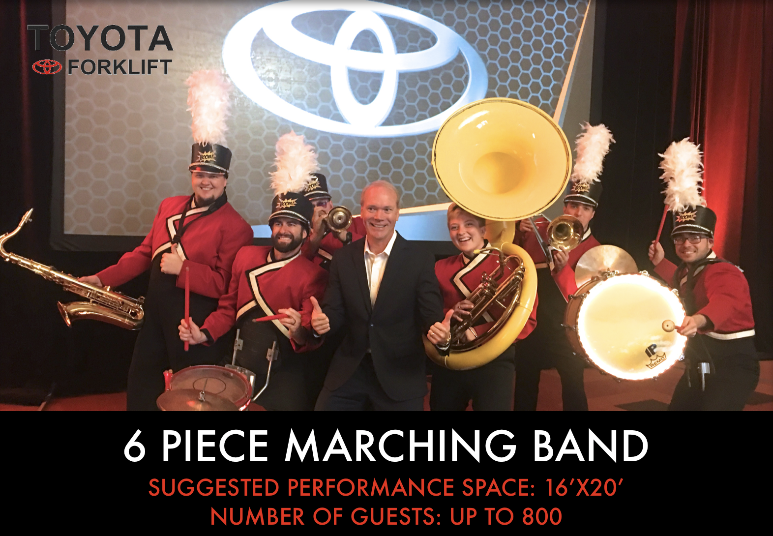 6 piece Marching Band