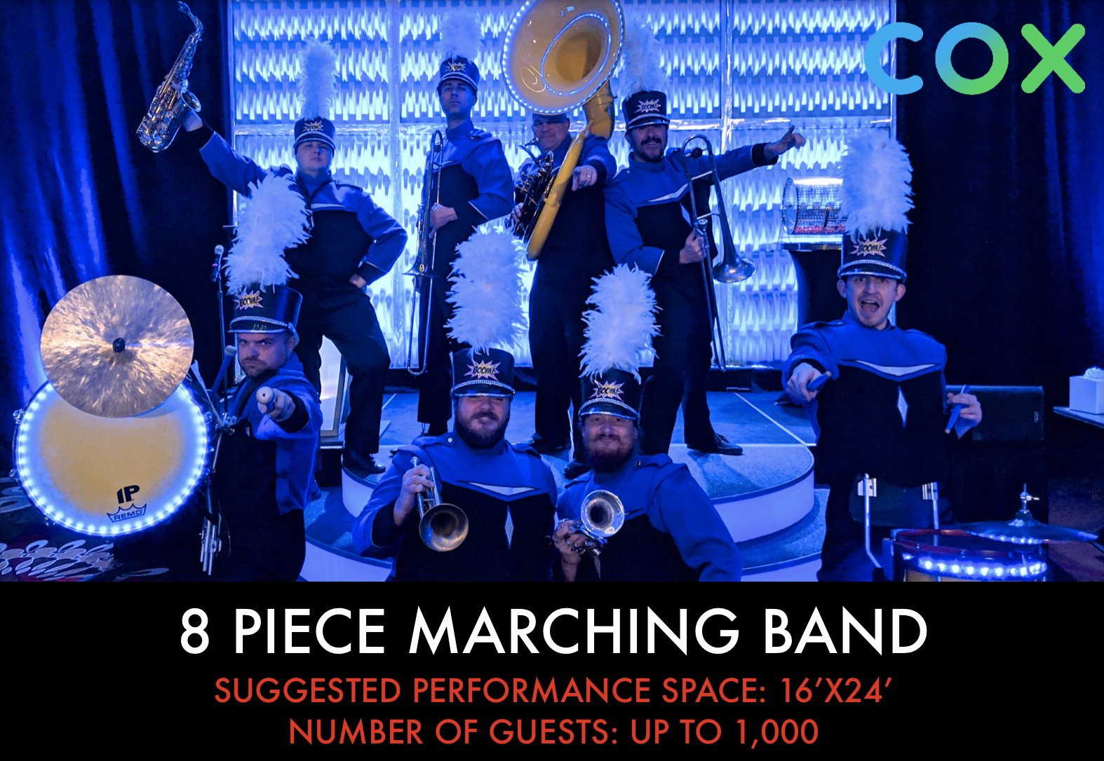 8 piece Marching Band