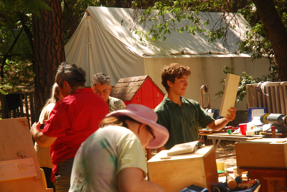 Woodcarving Group in Action