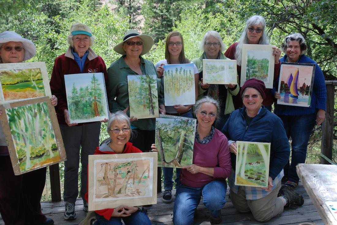 Watercolorists Display their Work
