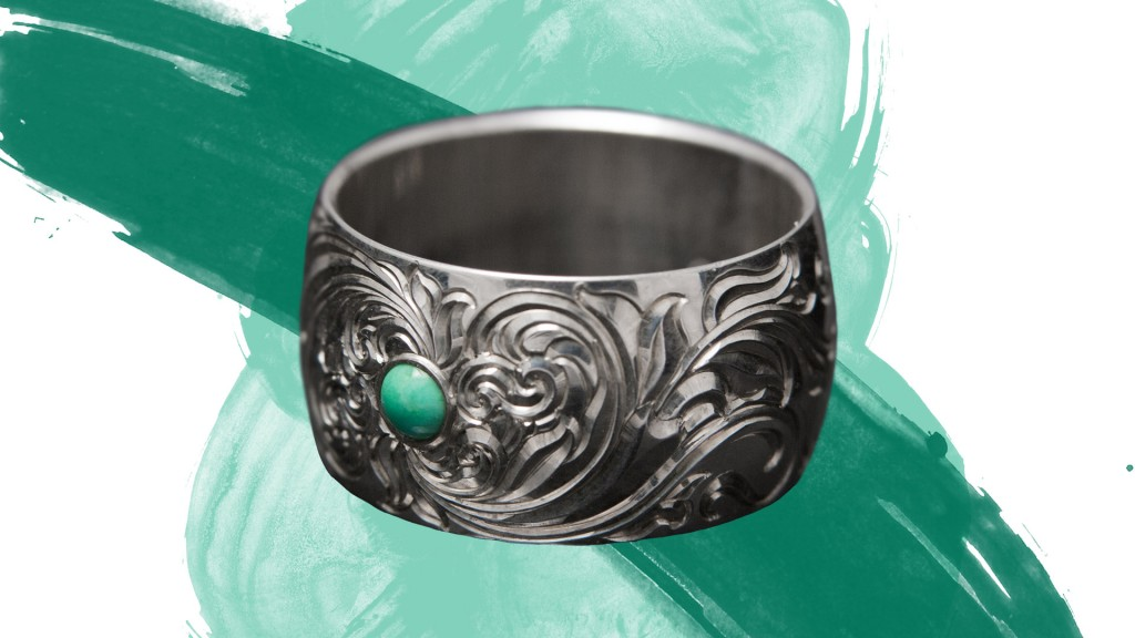 engraved turquoise