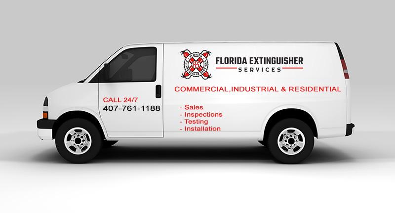 Company Van for Florida Extinguisher Services
