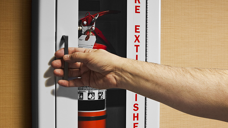 Flush Mount Extinguisher Cabinet Installation