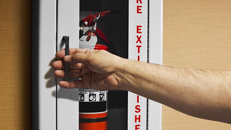 Flush Mount Extinguisher Cabinet Installation