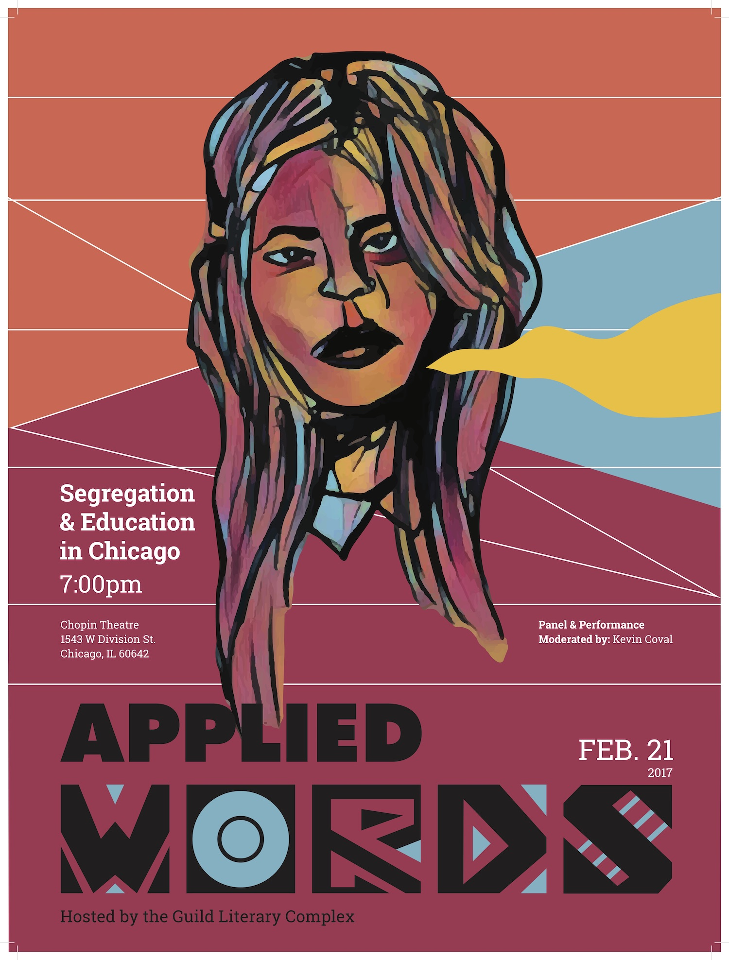 Applied Words is Back, Tonight at Chopin Theatre with a conversation around Segregation and Education in Chicago, and the impact of the Arts