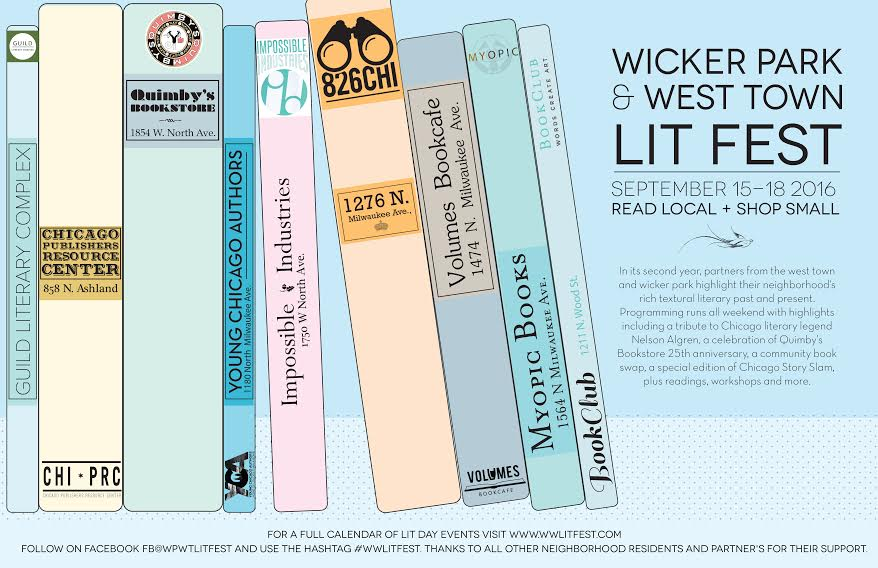 Wicker Park and West Town Lit Fest Sept 15-18
