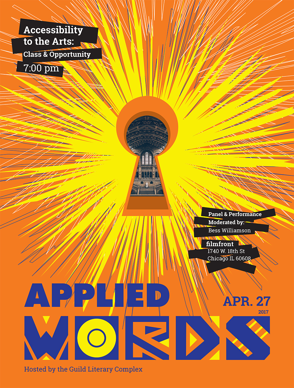 April Applied Words: Class and Opportunity, April 27th, 7:00-9:30 PM