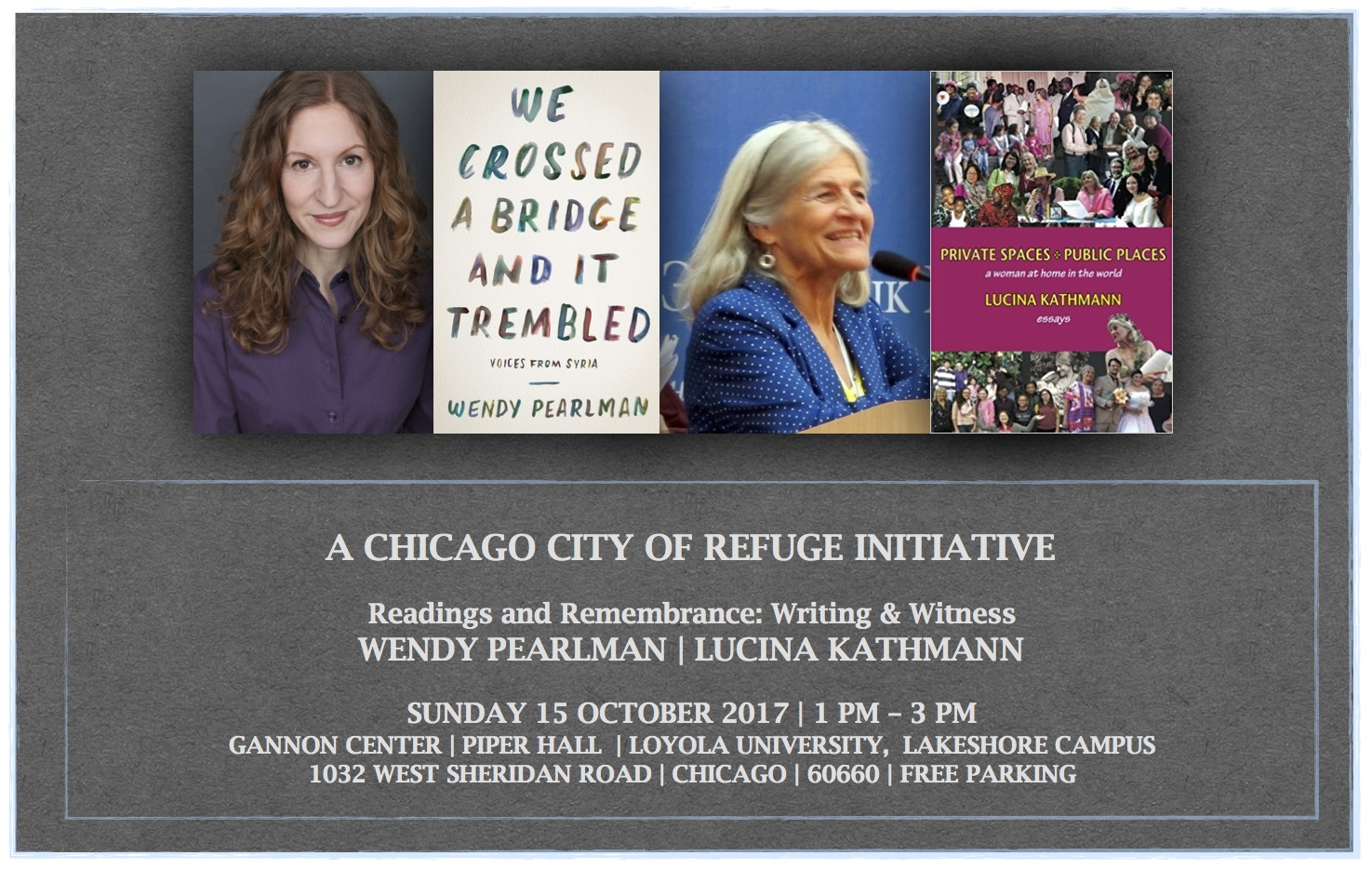 CHICAGO CITY OF REFUGE INITIATIVE Readings and Remembrance, Oct 15th