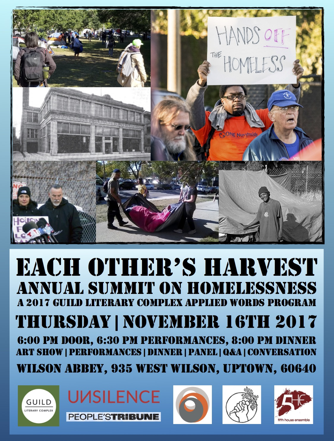 Each Other's Harvest, Annual Summit on Homelessness