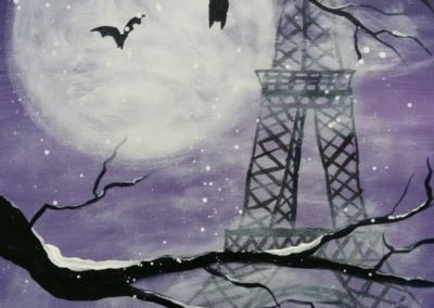Bats of Paris Painting