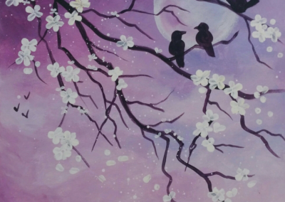 Birds & Blossoms Painting