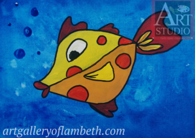 Fishy Fishy Painting