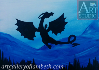 Flying Dragon Painting