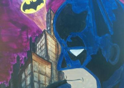 Gotham by Night Painting