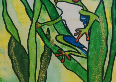 Grass Frog Painting