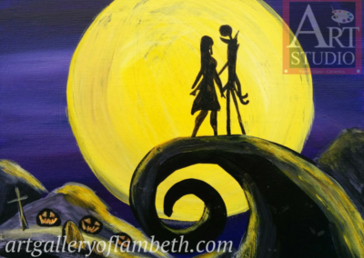 Jack & Sally Painting
