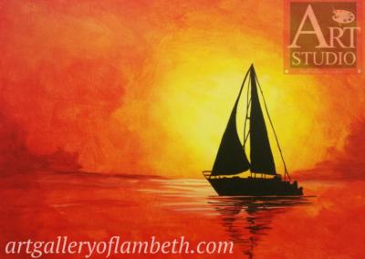 Last Sail Painting