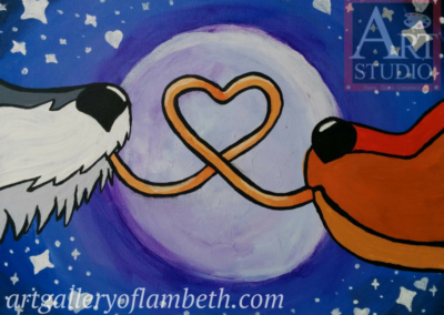 Lady & The Tramp Painting