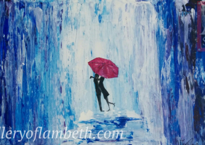 Love in the Rain Painting
