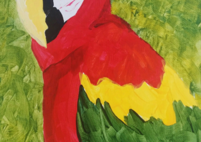 Macaw Painting