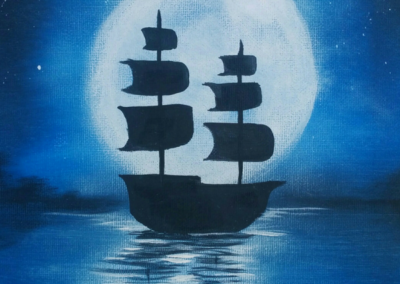 Night Sailing Painting