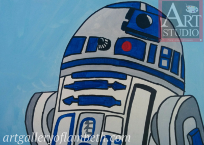 R2D2 Droid Painting