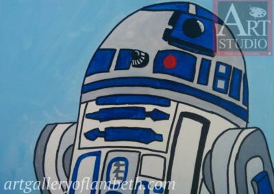 R2D2 Droid Painting
