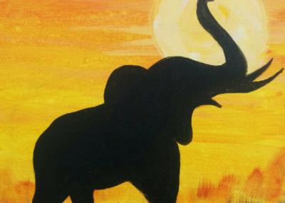 Safari Painting