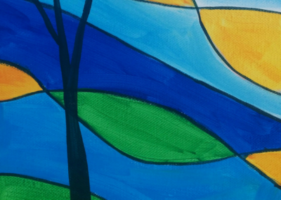 Stained Glass Tree Painting
