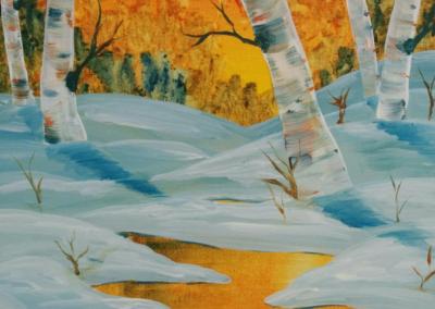 Snow & Sunlight Painting