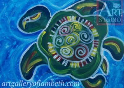 Totem Turtle Painting