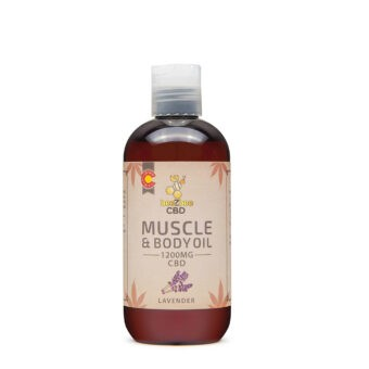 beeZbee CBD Muscle and Body Oil 1200mg Lavender