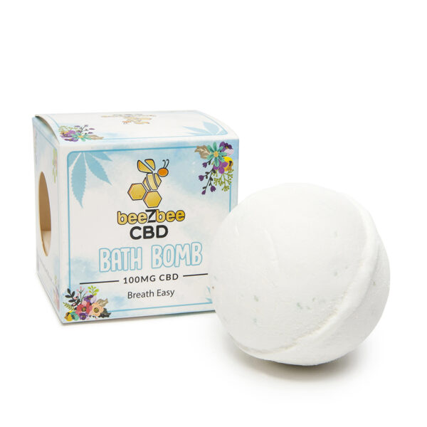 beeZbee CBD Bath Bomb Breathe Easy