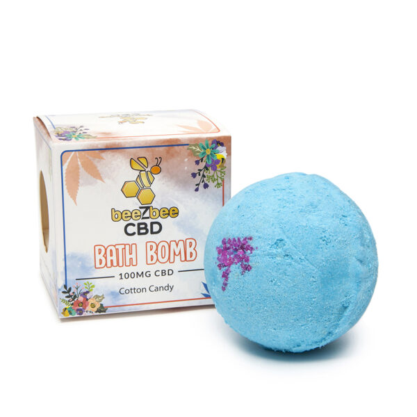 beeZbee CBD Bath Bomb Cotton Candy