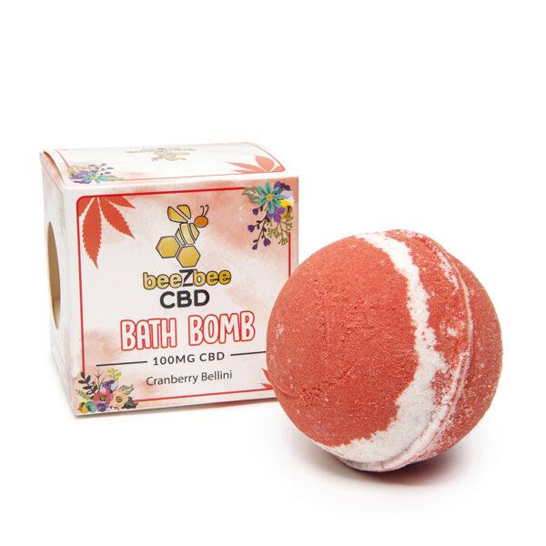 beeZbee CBD Bath Bomb Cranberry Bellini