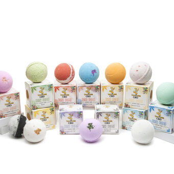 beeZbee CBD Bath Bomb Group Shot 10 Scents