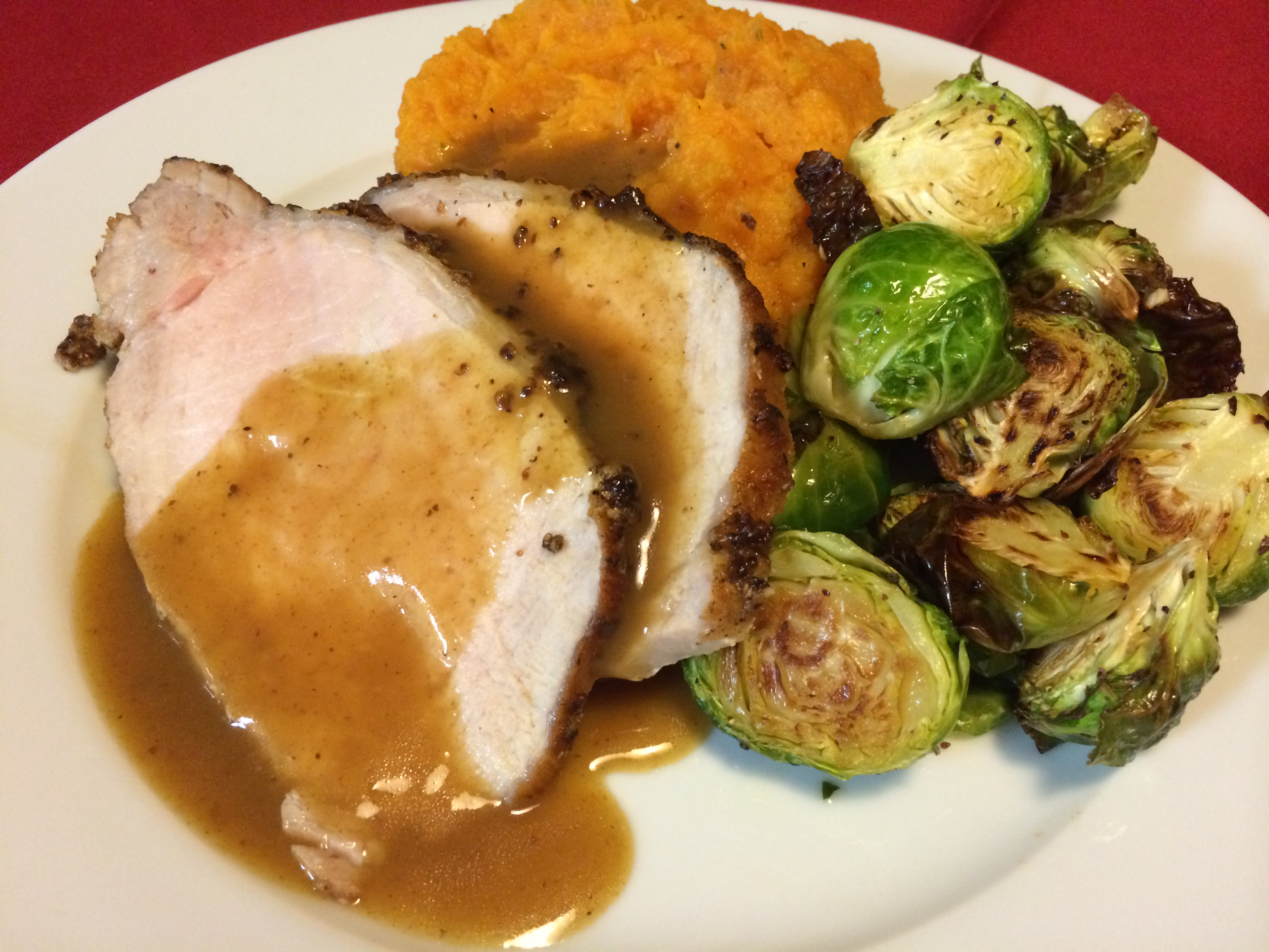 Pork loin and sweet potato