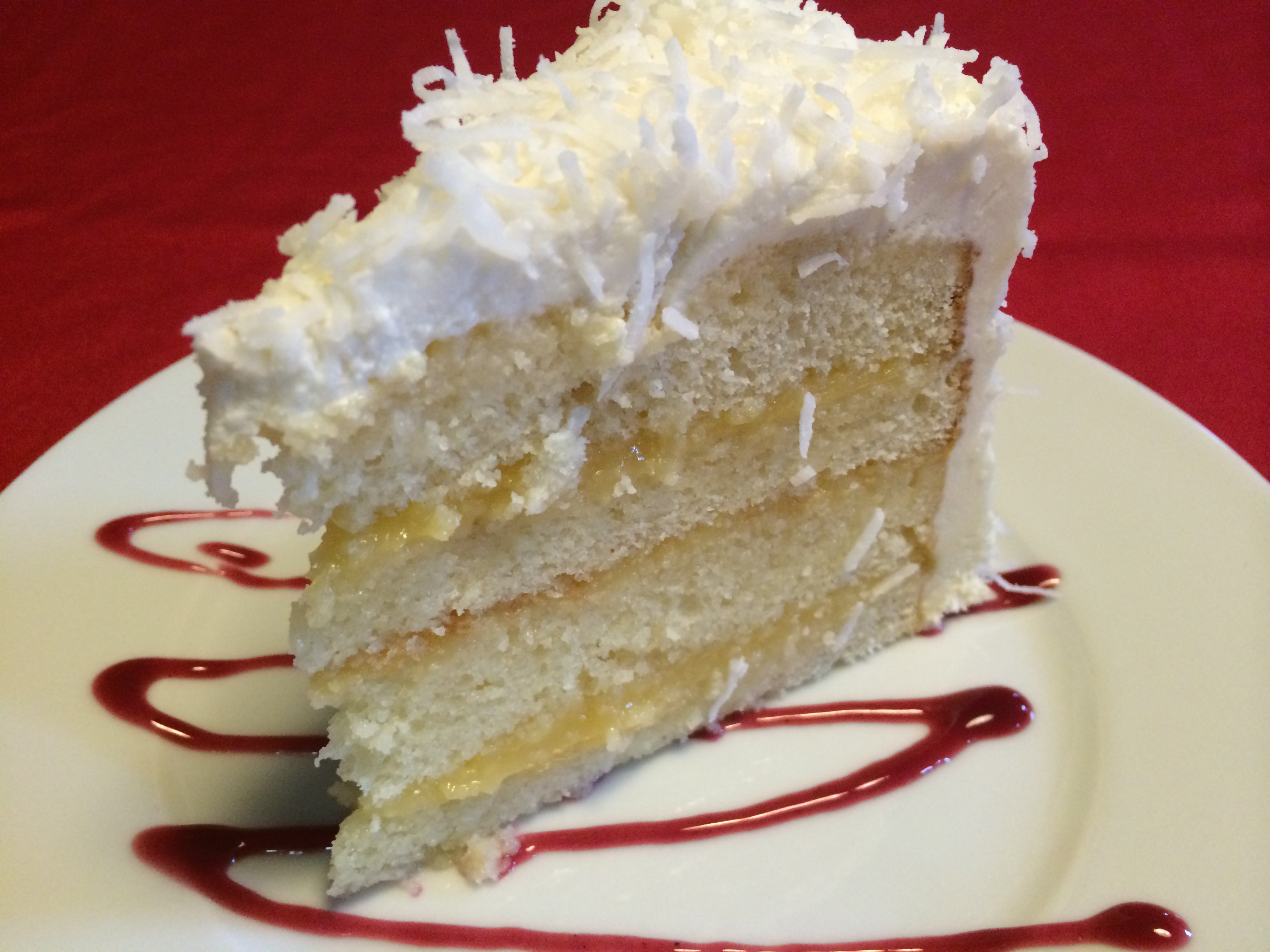 Lemon Coconut Torte